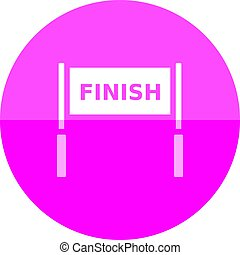 Circle icon - Finish line - Finish line icon in flat color...