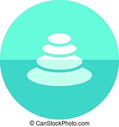 Circle icon - Spa stone