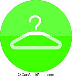 Circle icon - Clothes hanger - Clothes hanger icon in flat...