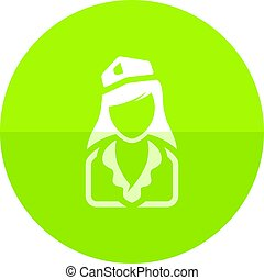Circle icon - Stewardess avatar - Stewardess avatar icon in...