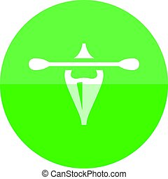 Circle icon - Canoe - Canoe icon in flat color circle style....