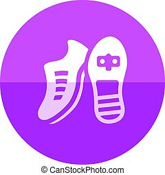 Circle icon - Cycling Shoe - Cycling shoe icon in flat color...