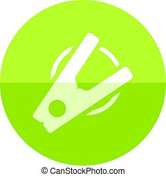 Circle icon - Clothes peg - Clothes peg icon in flat color...