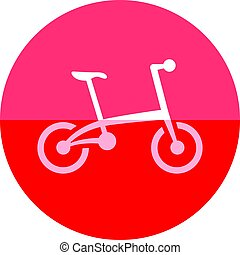 Circle icon - Folding bicycle - Bicycle icon in flat color...