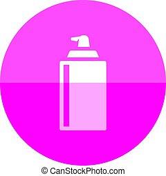Circle icon - Liquid spray - Liquid spray icon in flat color...