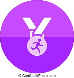 Circle icon - Athletic medal - Athletic medal icon in flat...