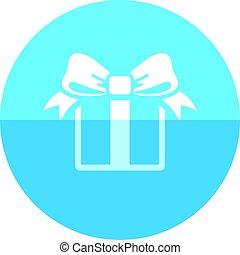 Circle icon - Gift box - Gift box icon in flat color circle...