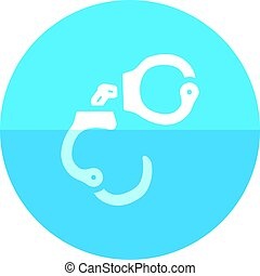Circle icon - Handcuff - Handcuff icon in flat color circle...