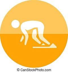 Circle icon - Starting runner