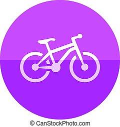 Circle icon - Mountain bike - Mountain bike icon in flat...