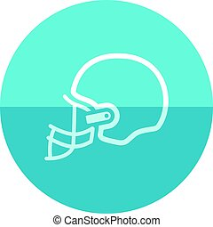 Circle icon - Football helmet