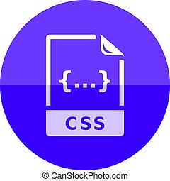 Circle icon - CSS file format - CSS file format icon in flat...