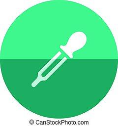 Circle icon - Eyedropper - Eyedropper icon in flat color...