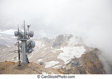 View from top of Zugspitze Austria