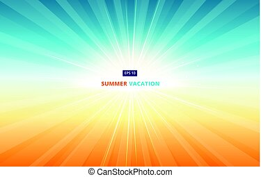 Morning sun shines in the sky in summer vacation. In the season of travel