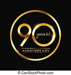 Template 90 Years Anniversary Vector Illustration EPS10