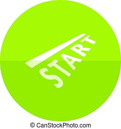 Circle icon - Starting line - Starting line icon in flat...
