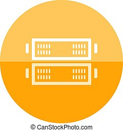 Circle icon - Server rack - Server rack icon in flat color...