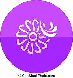 Circle icon - Water turbine - Water turbine icon in flat...