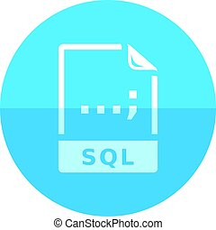 Circle icon - SQL File format