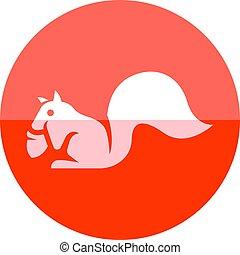 Circle icon - Squirrel - Squirrel icon in flat color circle...