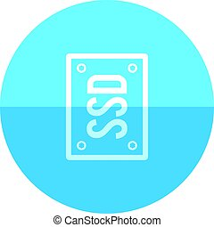Circle icon - Solid state drive - Solid state drive icon in...