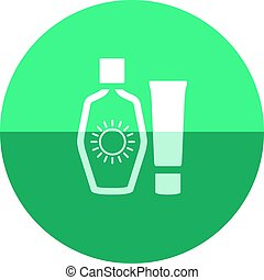 Circle icon - Tanning lotions - Tanning lotions icon in flat...