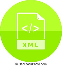 Circle icon - XML file format - XML file format icon in flat...