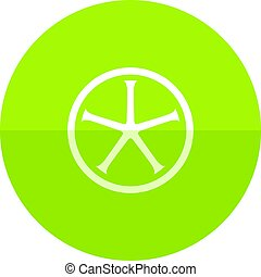 Circle icon - Bicycle wheel - Bicycle wheel icon in flat...