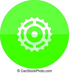 Circle icon - Sprocket - Sprocket icon in flat color circle...