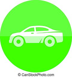 Circle icon - Car - Car icon in flat color circle style....