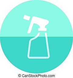 Circle icon - Sprayer bottle - Sprayer bottle icon in flat...