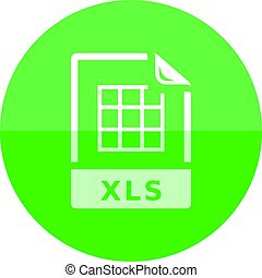 Circle icon - Spreadsheet file - Spreadsheet file icon in...