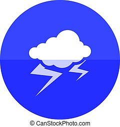 Circle icon - Weather overcast storm - Weather overcast...