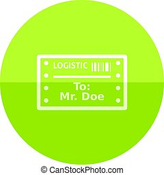 Circle icon - Logistic receipt - Logistic receipt icon in...