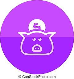 Circle icon - Coin piggybank