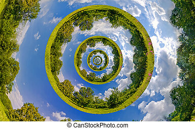 Infinity Earth - Infinity Planet. Ecology and environment...