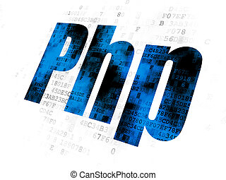 Software concept: Php on Digital background - Software...