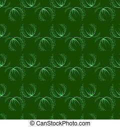 Seamless Grass Pattern - Summer Leaves Isolated on Green...