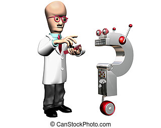 Inventor - Isolated illustration of a professor...