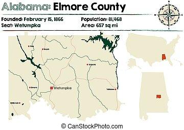 Alabama: Elmore county map