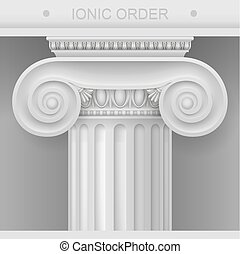 Capital of Ionic Column - White Capital of the Ionic column....