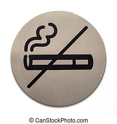 Forbidding smoking sign - Close-up image of informative no...