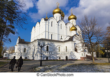 Assumption Cathedral in Yaroslavl at autumn time