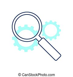 Search engine optimization illustration - Magnifier with...