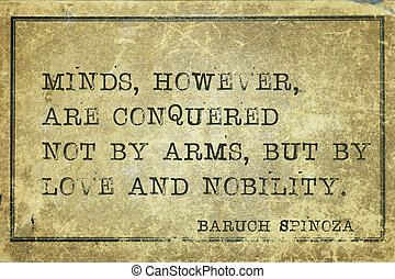 minds by love Spinoza