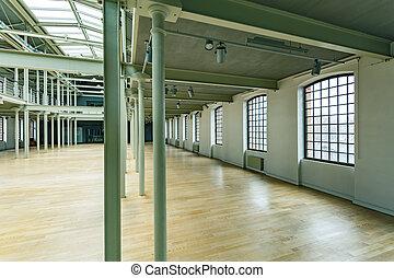 Loft windows in warehouse - Big loft windows in renewed...