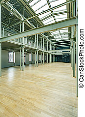 Big space in warehouse