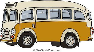 Retro yellow bus