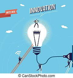 Business innovation marketing concept illustration - New...